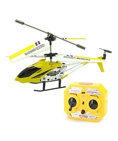 Dads take a look at this Yellow Radio Control Mini Helicopter by DGL Group on #zulily today!