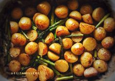 Easy Balsamic Roasted New Potatoes with Asparagus  – Cook.Eat.Share
