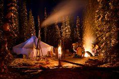 Winter Camping - MacKay Lake, north of La Ronge, #Saskatchewan.  There's a LAKE named after my family?!