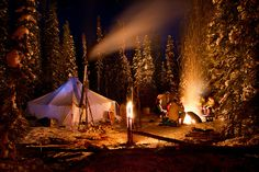 Winter Camping - MacKay Lake, north of La Ronge, #Saskatchewan.