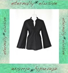 AUGUST SILK Sequin Ruche Long Bell Sleeved Summer Kaftan Tunic Smock Top Ladie S