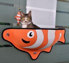 Fancy - Fish Shaped Cat Window Nest