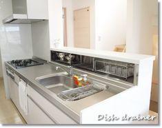 水切りいろいろ 小さなキッチンデザイン モダンなキッチンデザイン リビング キッチン