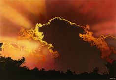 SUNSET. Airbrush with acrylics on canvas(100x70cm)