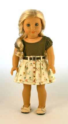 18 Doll Clothes fits American Girl Doll by does this american girl look bigger to you? Sewing Doll Clothes, Girl Doll Clothes, Doll Clothes Patterns, Girl Dolls, Ag Dolls, Doll Patterns, Dress Patterns, American Girl Crafts, All American Girl