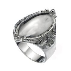 Signet Sterling Silver  Women Ring by jewelkingthai on Etsy, $24.00