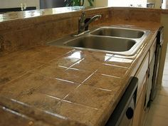 tile countertop medium sized square tiles simple posted pictures kitchens comments