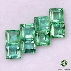 1.56 Cts Natural Emerald Square Cut 3.25 mm Lot 08 Pcs Lustrous Faceted Loose Gemstones Semi Precious Gemstones, Loose Gemstones, Columbian Emeralds, Emerald Gemstone, Natural Emerald, Country Of Origin, Jewelry Sets, Crystals, Minerals