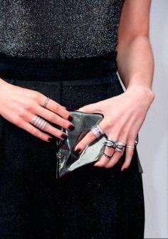 #EmmaWatson, dress by #VeraWang #Oscars2014 #RedCarpet #Rings