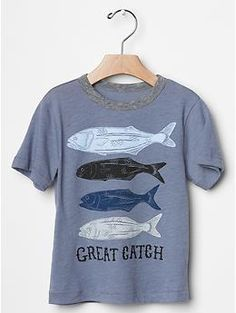 "2015 Summer toddler  ""Great Catch"" fish  tee 