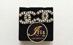 ต่างหู Chanel Earring Crystal-Pearl ของใหม่พร้อมส่ง‼️ - Iris Shop