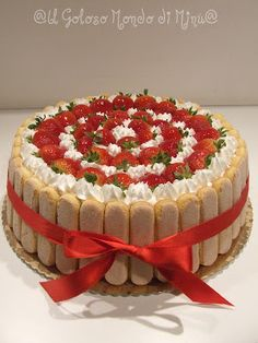 Torta fragole e crema diplomatica!