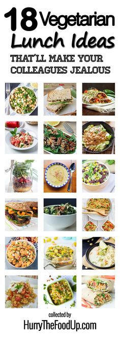 18 Vegetarian Lunch Ideas That'll Make Your Colleagues Jealous #healthy #vegetarian | hurrythefoodup.com
