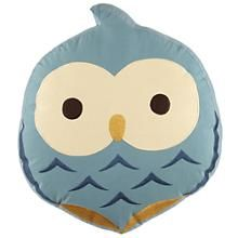 Kids Throw Pillow: Owl Shaped Throw Pillow in All New