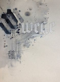 Dies ist die Seite von Sigrid Artmann, Schriftkünstlerin und Kalligrafin aus Ludwigsburg. Calligraphy Letters, Caligraphy, Penmanship, Bullet Art, Sumi Ink, Composition, Black Letter, Teaching Art, Handwriting