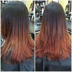 black copper bronze ombre hair - Google Search