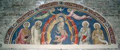 Mariotto di Nardo di Cione - Madonna col bambino e quattro santi - affresco - 1400-1410 ca. - Accademia delle Arti del disegno, Firenze