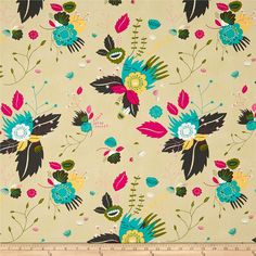 Art Gallery Tallinn Fairytale Odessa Dream Tan from @fabricdotcom  Designed by Jessica Swift for Art Gallery Fabrics, this cotton print fabric is perfect for quilting, apparel, and home decor accents. Colors include tan, fuchsia, teal, sage, white, and slate.