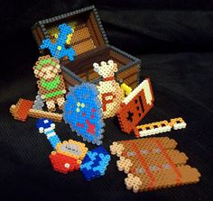 Legend of Zelda Perler Treasure Chest (and Loot) by AbleSistersFanCrafts on deviantART