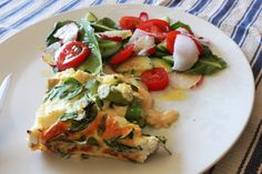 Asparagus and Rocket and Ricotta Fritatta by Michelle Bridges