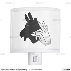 Hand Silhouette Billy Goat Night Light