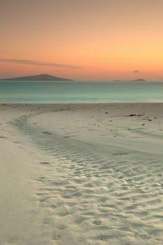 Colores tenues en la playa.