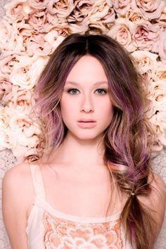 side braid & gorgeous hair colour