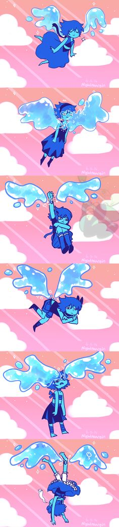 and here we observe a flock of lapis lazulis migrating south for winter (in light of the recent ruby episode)