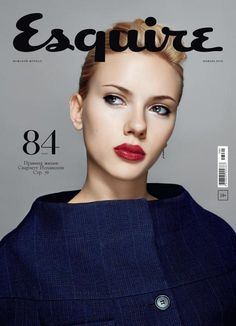 Scarlett Johansson on Esquire magazine [Russia] January American actress and singer Scarlett Johansson get another cover page of a fashion magazine this time for 'Esquire' [Russia] January 2013 issue. Fashion Magazine Cover, Cool Magazine, Fashion Cover, Magazine Cover Design, Elle Magazine, Magazine Covers, Paper Magazine Cover, Magazine Art, Gq