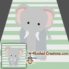 Elenor the Elephant SC Baby Blanket Crochet Pattern - PDF Download