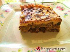 Λαζάνια με μελιτζάνες #sintagespareas #lazania #melitzanes Greek Recipes, Lasagna, Pasta, Cooking, Ethnic Recipes, Food, Kitchens, Kitchen, Eten