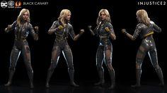 Injustice 2 - Black Canary by Solomon Gaitan on ArtStation. Black Canary Costume, Black Canary Comic, Arrow Black Canary, Injustice Characters, Dc Characters, Injustice 2 Black Canary, Gotham City, Dc Injustice, Garter