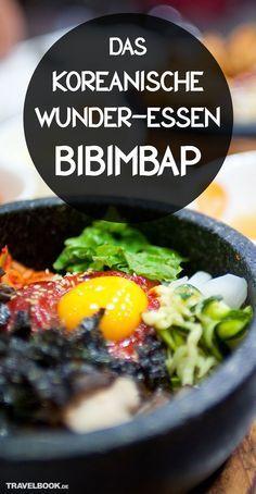 """Bibimbap – klingt niedlich, ist aber in Wahrheit eine koreanische Spezialität, die gesund ist und Kraft für den ganzen Tag gibt. Was in dem Reisgericht steckt und warum es in deutschen Restaurants nie so gut schmeckt wie in Korea, lesen Sie in unserer Food-Kolumne """"Friederikes Weltspeisen"""". Dazu: ein Rezept zum Selbermachen. Slow Food, A Food, Food And Drink, Asian Cooking, Easy Cooking, Squirrel Food, Asian Recipes, Healthy Recipes, Work Meals"""