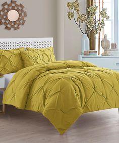 Mustard Carmen Four-Piece Comforter Set