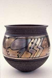 Vessel, lustre decoration by John Wheeldon