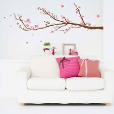 Art Applique by KMG Cherry Blossoms Decorative Wall Decal