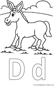 D is vir donkie Grade R Worksheets, Kids Learning Activities, Art Pages, Afrikaans, Kids, Infant Learning Activities