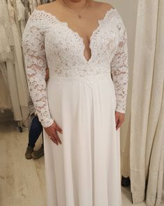 New arrival plus size wedding dresses with half sleeves v for Plus size wedding dresses dallas tx