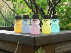 Neon Calming Bear Set of 5 for Anxiety Relief / Sensory Toy /