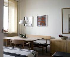 natural colors + wood in dining room | Patric Johansson for Sköna hem