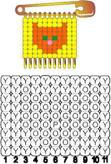 Cat Pattern for Beaded Safety Pins