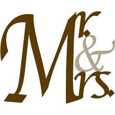 Silhouette Design Store: Mr. & Mrs.