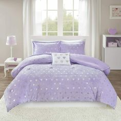 Girls Comforter Sets, Purple Comforter, Twin Xl Comforter, Black Bedding, Purple Bedding Sets, Purple Bedroom Decor, Clean Bed, Rosalie, Bed Sets