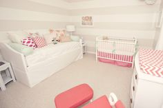 Daybed in nursery - the perfect place for mom or dad to catch zzzzzs on a rough night for baby!