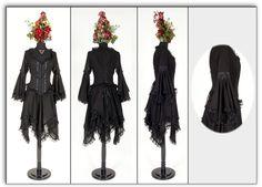 steampunk oz | Eternal Love Plus Size Black Gothic Morgaine En Voile Dress [5158] - $ ...