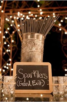 Sparklers for the send off! Wedding Preston Bailey Bride Ideas #Home  I really love this idea. Shouldn't be hard to get sparklers since the wedding is right after 4th of July!!