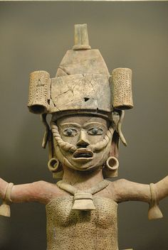 This striking ceramic portrait of an ancient woman from Veracruz is in the St Louis Art Museum