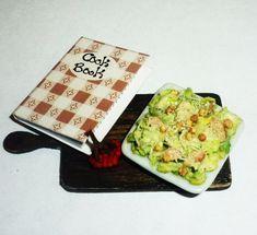Dollhouse miniature 112 Salad Caesar  by miniatureVictoriya