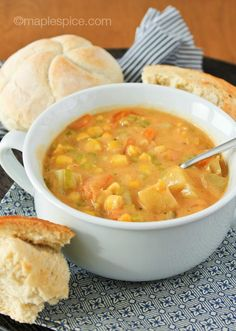 Smokey Vegetable Chowder - vegan recipe