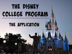 The Disney College Program: The Application Process